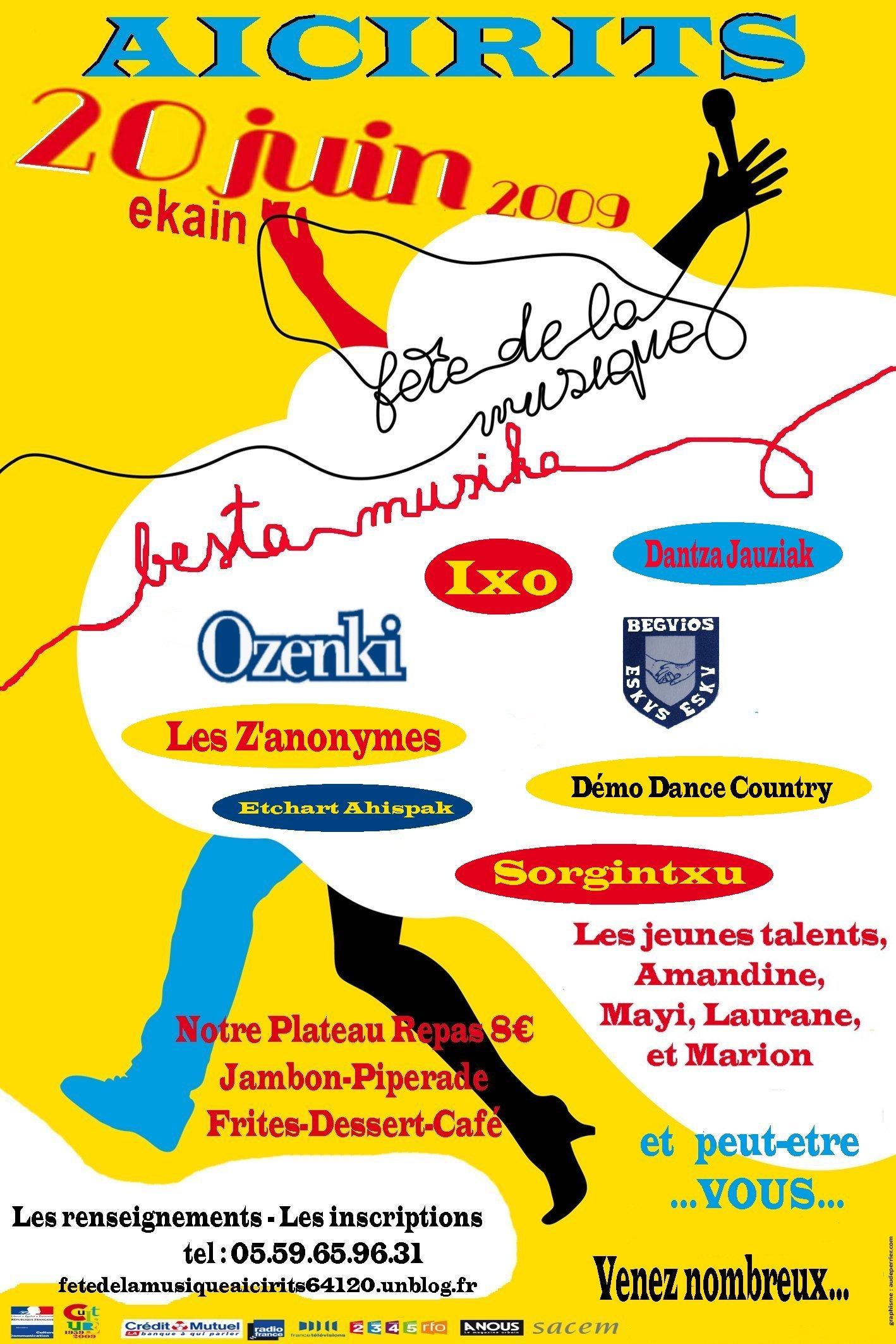 affiche fete musique 2009 aicirits